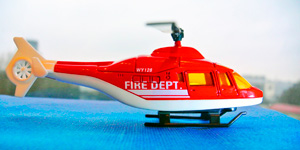 Новые видео для детей.  Пожарный вертолёт.  Открываем игрушки для мальчиков.